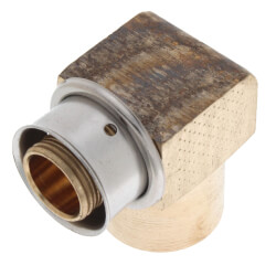 """3/4"""" PEX Press Copper Pipe Sweat 90° Elbow w/ Sleeve (Lead Free) Product Image"""