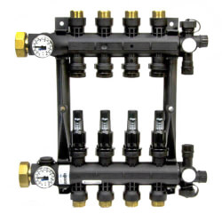 4-Loop EP Radiant Heat Manifold Assembly<br>w/ Flow Meters Product Image