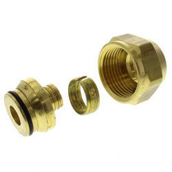 "5/8"" QS-style Fitting Assembly, R25 thread<br>(Not for Loop Connections) Product Image"