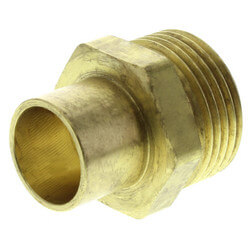 "Copper Pipe Adapter<br>R20 x 1/2"" Copper Product Image"