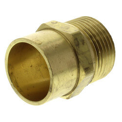 "Copper Pipe Adapter<br>R20 x 3/4"" Copper Product Image"