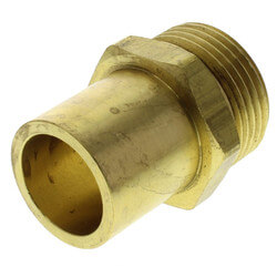 "Copper Pipe Adapter<br>R25 x 3/4"" Copper<br>(for 3/4"" tubing only) Product Image"