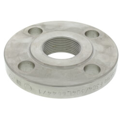 "1-1/4"" Stainless Steel<br>ANSI RF Threaded Flange Product Image"