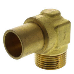 """QS-style Baseboard Elbow<br>R20 x 3/4"""" Copper Fitting Adapter Product Image"""