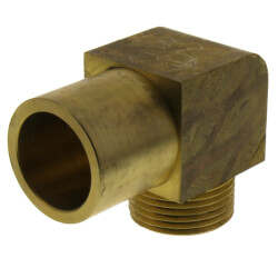 """QS-style Baseboard Elbow<br>R20 x 3/4"""" Copper Product Image"""