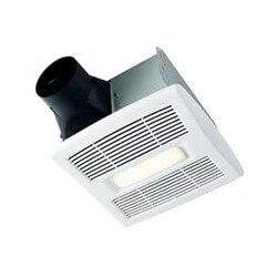 Flex Series Fan Finish Pack w/ White Grille & LED Light (80 CFM, 0.8 Sones) Product Image