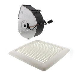 Flex Series Fan Finish Pack w/ White Grille, No Light (80 CFM, 0.8 Sones) Product Image