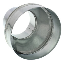 "AK46R 4"" to 6"" Round Galvanized Steel Transition Product Image"