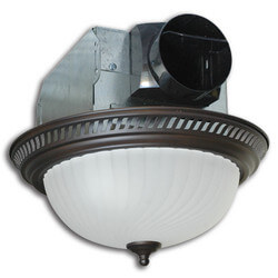 AKLC702 Quiet Decorative Exhaust Fan w/ 60W Light (Nickel, 70 CFM) Product Image