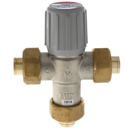 "1/2"" Lead Free Union Sweat Mixing Valve<br>(70&#176;F-145&#176;F) Product Image"
