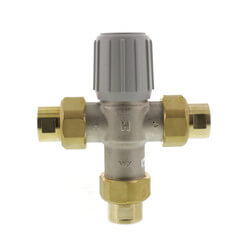 "1/2"" Union NPT Lead Free Mixing Valve, (70°F-145°F) Product Image"
