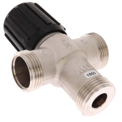 """1/2"""" Sweat Union Mixing Valve w/ Temperature Gauge (Heating Only) Product Image"""