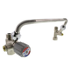 DirectConnect Water Heater Kit w/ 3/4'' Mixing Valve, 11'' SS Corrugated Hose Connector (Lead Free) Product Image