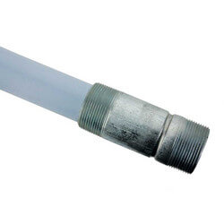 "1-1/2"" Diameter x 35"" Long Dip Tube, w/ 1-1/2"" NPT Nipple Product Image"