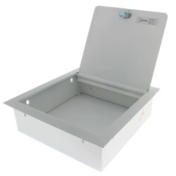"""12"""" x 12"""" x 4"""" Stainless Steel Recessed Valve Box (Prime Coated Steel) Product Image"""