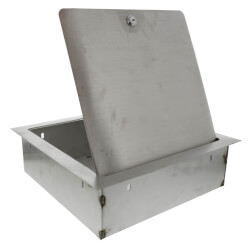 """12"""" x 12"""" x 4"""" Stainless Steel Recessed Valve Box (Stainless Steel) Product Image"""