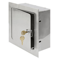 """8"""" x 8"""" x 4"""" Recessed Valve Box (Stainless Steel) Product Image"""