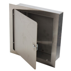 "8"" x 8"" x 4"" Recessed Valve Box (Stainless Steel) Product Image"