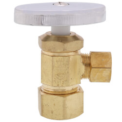 "5/8"" OD Compression x 3/8"" OD Compression Multi Turn Angle Stop, Lead Free (Rough Brass) Product Image"