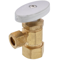 """5/8"""" OD Compression x 3/8"""" OD Compression Multi Turn Angle Stop, Lead Free (Rough Brass) Product Image"""