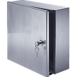 """8"""" x 8"""" x 4"""" Surface<br>Mounted Valve Box<br>(Stainless Steel) Product Image"""