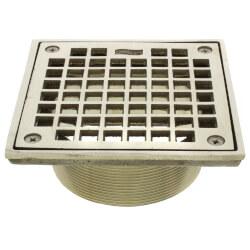 "5"" Square Floor Drain Grate and Screws (Nickel Bronze) Product Image"