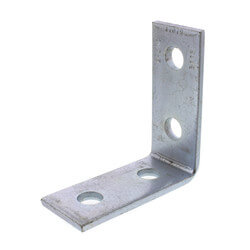 90° Four Hole Corner Angle Fitting (Zinc) Product Image