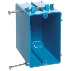 22 Cubic Inch 1-Gang Nail-On New Work Non-Metallic Outlet Box Product Image