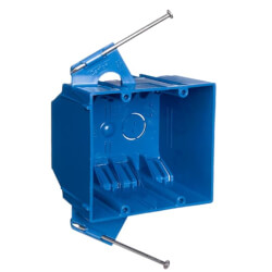 32 Cubic Inch 2-Gang Nail-On New Work Non-Metallic Outlet Box Product Image