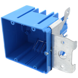 34 Cubic Inch 2-Gang Adjustable New Work Non-Metallic Outlet Box Product Image