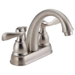 Windemere Two Handle Centerset Bathroom Faucet (Stainless) Product Image
