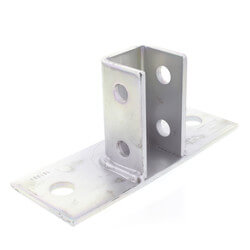 "8"" x 3-1/8"" x 3-1/2"" Zinc Post Base (For 1-5/8"" x 1-5/8"" Channel) Product Image"
