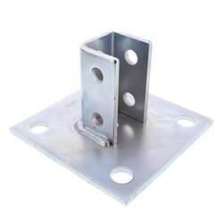 "6"" x 6"" x 3-1/2"" Zinc Post Base (For 1-5/8"" x 1-5/8"" Channel) Product Image"