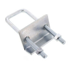 "3/4"" Max Flange Zinc Beam Clamp (For 1-5/8"" to 3-1/4"" Channel) Product Image"