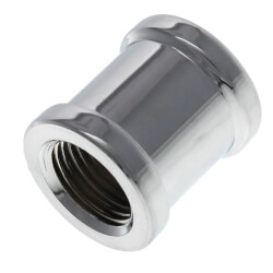 """3/8"""" Chrome Plated Bronze Coupling (Lead Free) Product Image"""