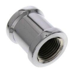 "3/4"" Chrome Plated Bronze Coupling (Lead Free) Product Image"