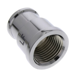 """1/2"""" x 3/8"""" Chrome Plated Bronze Coupling (Lead Free) Product Image"""
