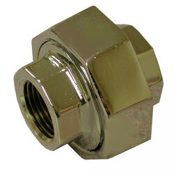"""3/4"""" Chrome Plated Bronze Union (Lead Free) Product Image"""