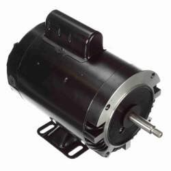 "Capacitor Start NEMA ""C"" Face Rigid Base Motor, 1 HP, 3450 RPM (230/115V) Product Image"