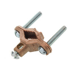 "1/2"" to 1"" Bronze Ground Wire Pipe Clamp<br>(10 to 2 AWG) Product Image"