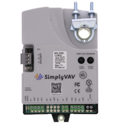 SimplyVAV BACnet Fan & Reheat Single Duct VAV Controller (40 lb-in, 90 sec Actuator) Product Image
