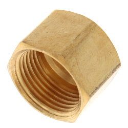 """3/8"""" OD Brass Compression Cap (Lead Free) Product Image"""
