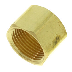 """1/2"""" OD Brass Compression Cap (Lead Free) Product Image"""