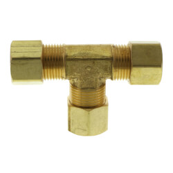 "3/8"" OD Brass Compression Tee (Lead Free) Product Image"