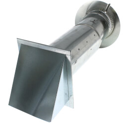 "Pressure Relief Damper w/ Wall Cap and 4"" Collar Product Image"