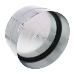 "BDD10R 10"" Round Duct Metal Back Draft Damper Product Image"