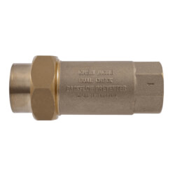 """1"""" BF1 Dual Check Backflow Preventer, Union FNPT Inlet and Outlet (Lead Free) Product Image"""