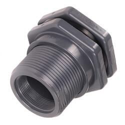 """1/2"""" CPVC Bulkhead Fitting w/ EPDM Gasket (Thread x Thread) Product Image"""