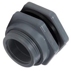 "1/2"" PVC Bulkhead Fitting w/ EPDM Gasket (Socket x Thread) Product Image"