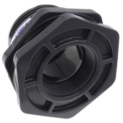 "2"" PVC Bulkhead Fitting w/ EPDM Gasket (Thread x Thread) Product Image"